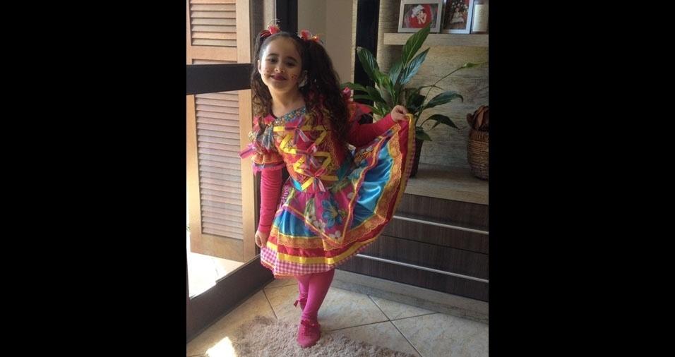Sheila Klein dos Santos enviou foto da filha Luiza, seis anos, de Cachoeirinha (RS)