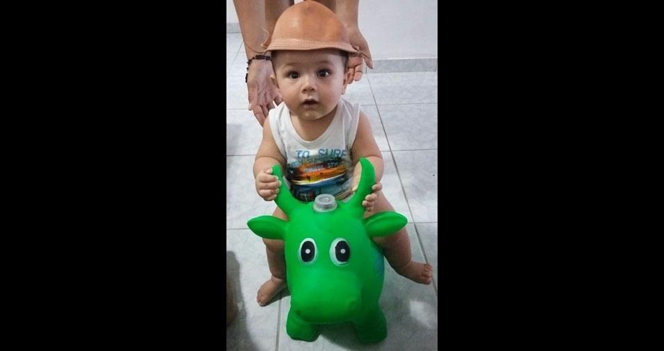 Hugo Felipe enviou foto do filho Vitor Hugo, de Belo Jardim (PE)