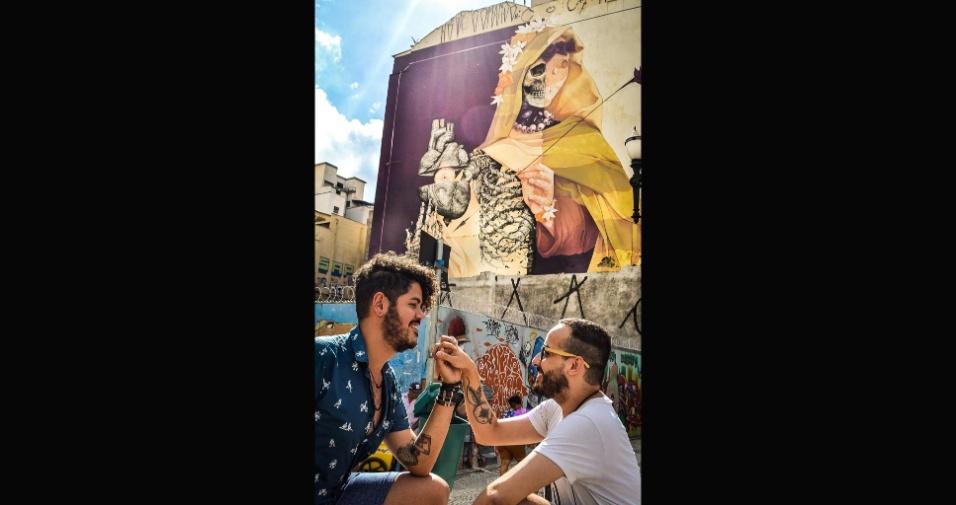 6.fev.2017 - O projeto surge em um momento de questionamentos, quando a Prefeitura de São Paulo optou por apagar obras de grafiteiros expostas por muros da Avenida 23 de maio. O local era, até então, o maior mural de grafite da América Latina