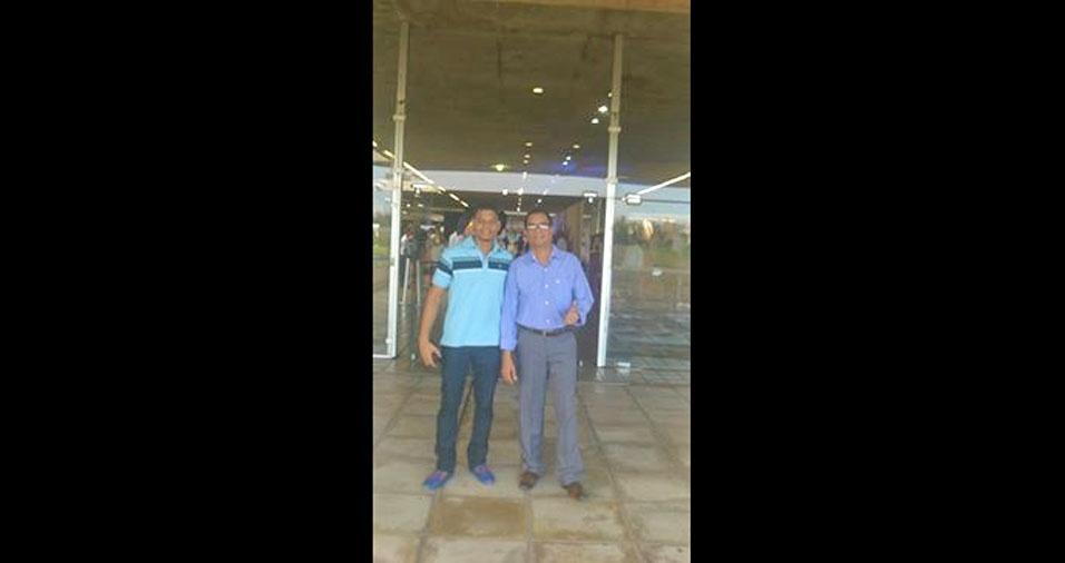 Pai Vicente Filho com o filho Diogo Correia