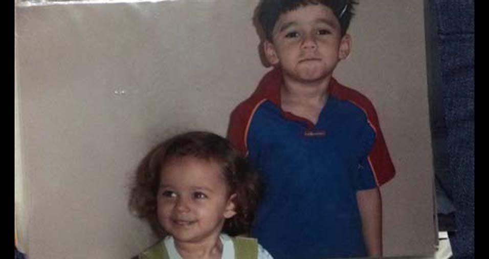 Marcio, de São Paulo (SP), enviou a foto dos filhos Eric e Aimê