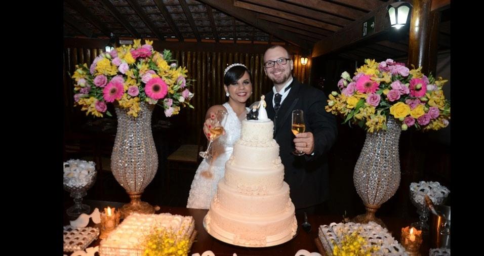 Ana Carolina Mochi e Vinicius Mochi casaram em 16 de julho de 2016, em Matão (SP)