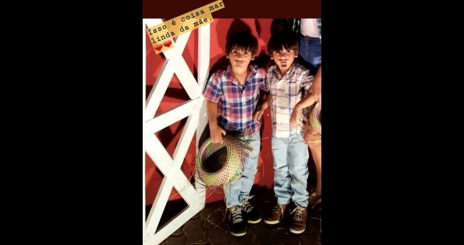 Rayssa Rocha Rodrigues, de Fortaleza (CE), enviou a foto dos filhos Pedro e Miguel, quatro anos