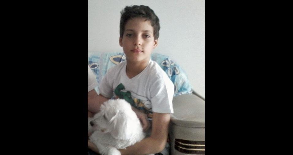 A mamãe Aucione enviou a foto do filho Kauet