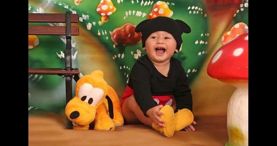 Amanda Garcia enviou a foto do filho Lorenzo Henrique, de Ribeirão Preto (SP)