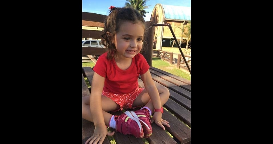 Solange e André enviaram foto da filha Laura, de Tubarão (SC)