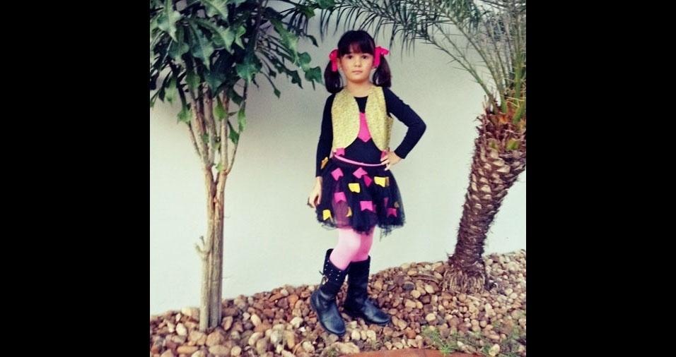 Simone Cristina Martinez enviou foto da filha Giulia, de cinco anos, da cidade de Jaú (SP)