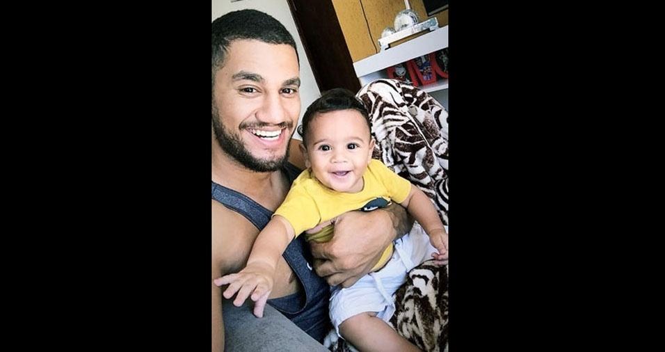 Só felicidade; Augusto César Machado de Souza, de Ibiá (MG), com o filho Lorenzo Lima Machado
