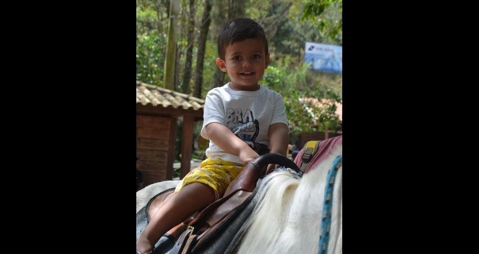 O Rafael Dias e Silva, de Monte Sião (MG), enviou foto do filho Vitor