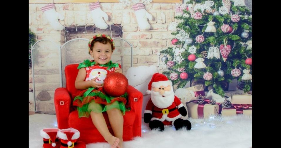 Roberto e Jennyfer enviaram foto da filha Manuelly, de São Paulo (SP)