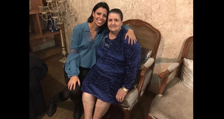 Michaeli com a vovó Maria, de Monte Aprazível (SP)