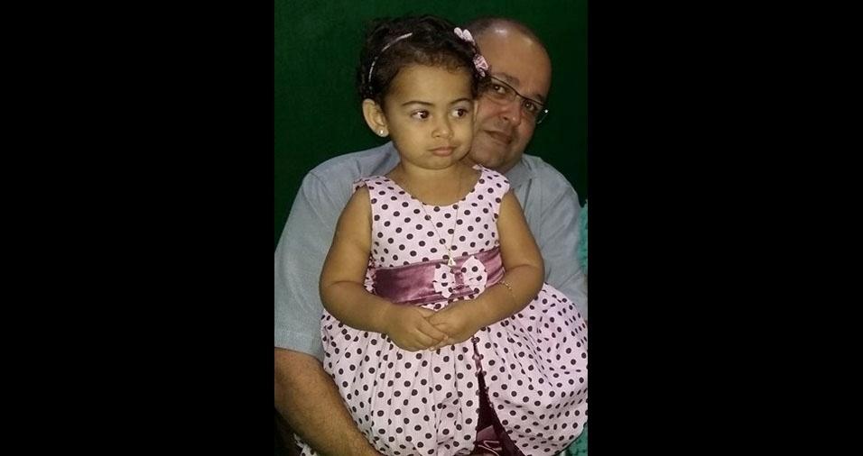 Mariana e seu pai José Benício, de Recife (PE)