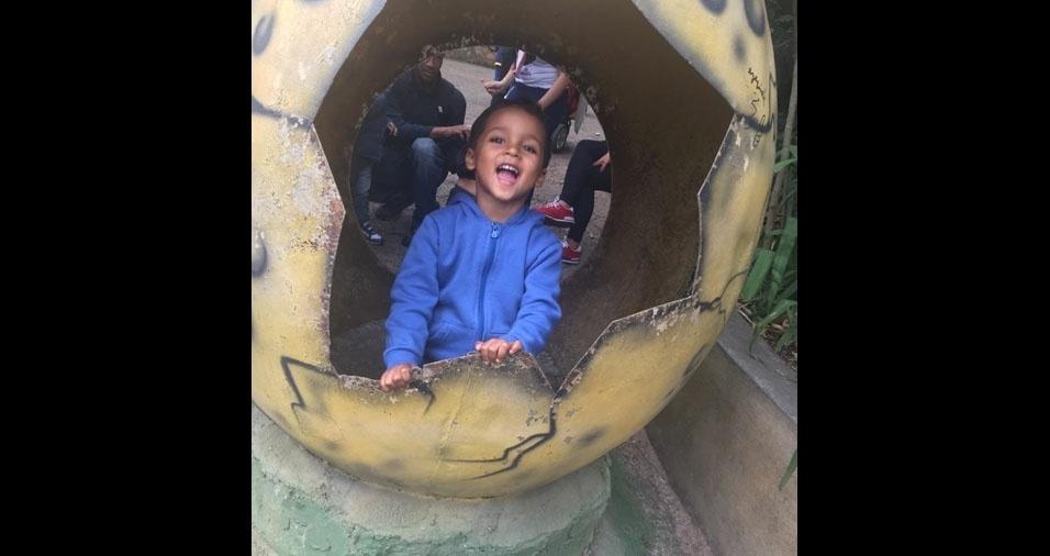 Cristiane Borges dos Santos enviou foto do filho Murilo, de Campinas (SP)