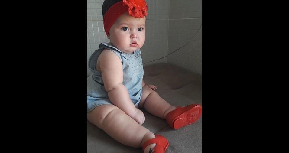 Eydriene enviou foto da Maria Luiza de oito meses, de Aracaju (SE)