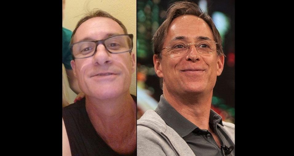 """Marcio Cinquini, 52 anos, de São Paulo (SP), conta que os amigos o acham a cara do ator Pedro Cardoso, o eterno Agostinho Carrara, de """"A Grande Família"""""""