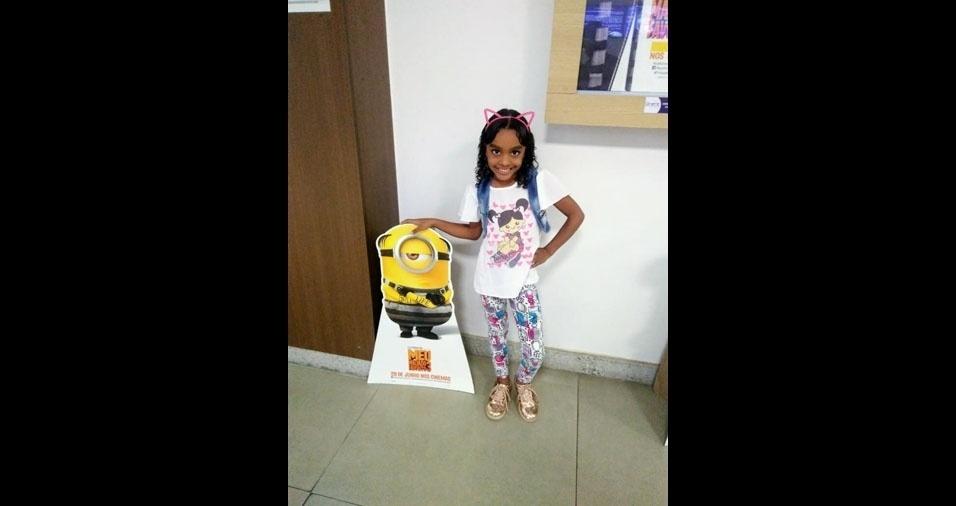 Lara, sete anos, é a filha da Juliana Regis, de Serrinha (BA), a capital da vaquejada