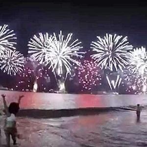 Réveillon de 2015 em Copacabana - Reprodução/YouTube