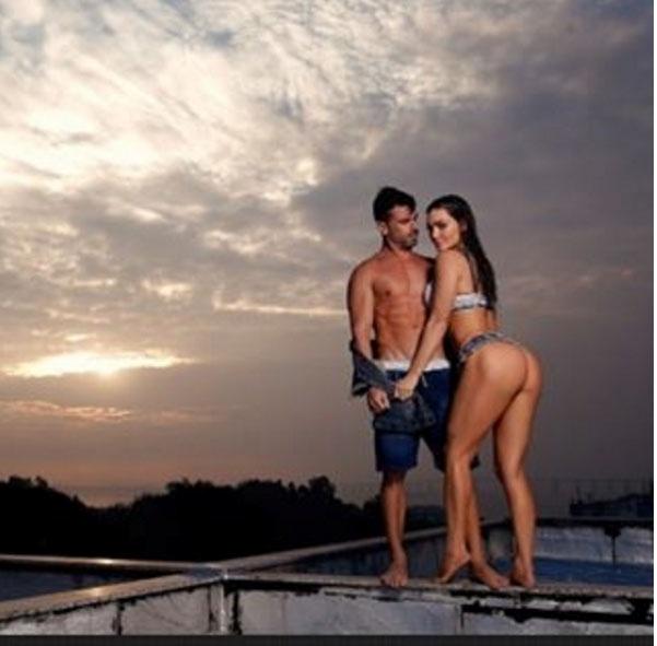 15.jul.2016 - Foto sensual mostra Laura Keller com o bumbum empinado e sugere que a gata vai despir o marodo, Jorge Sousa