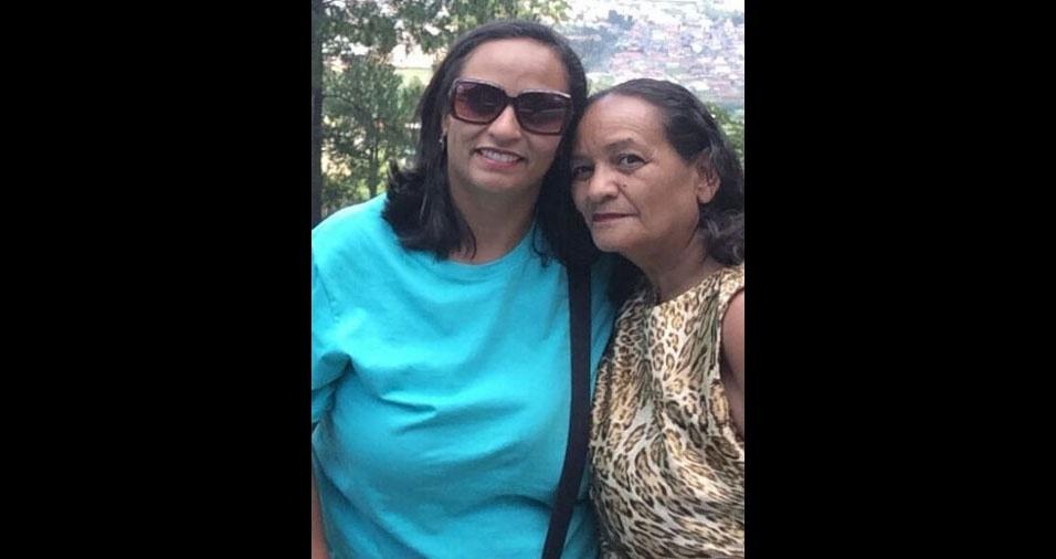 """Kenia Corrêa, de São Roque (SP), manda um recadinho para sua mãe, Maria de Fátima Oliveira, de Ituiutaba (MG): """"A distância é grande mas o meu amor é ainda maior. Te amo! Feliz dia das mães!"""""""