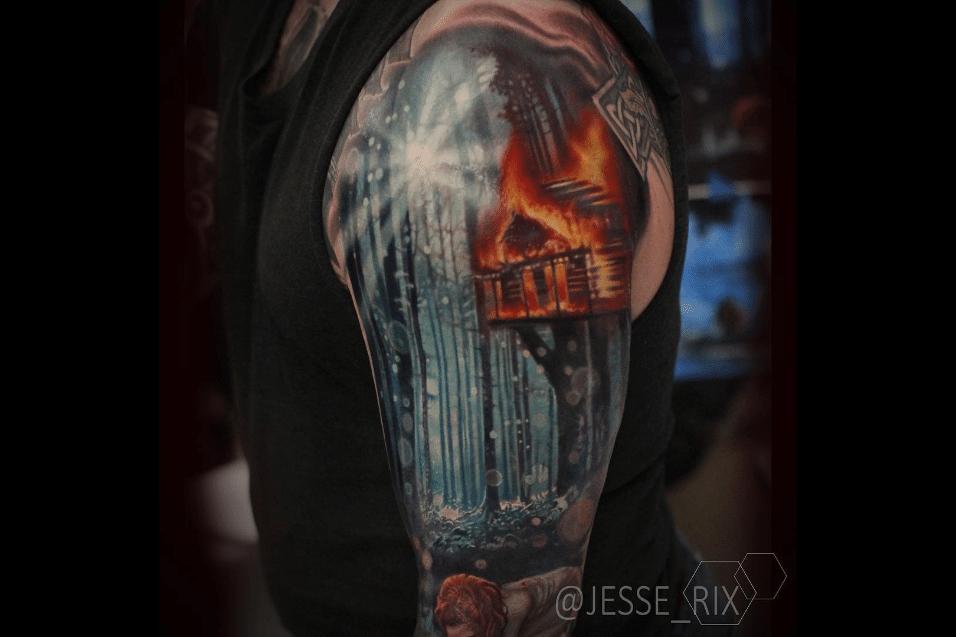 2.jun.2017 - Tatuador usa cores fortes para dar um toque de realismo às obras