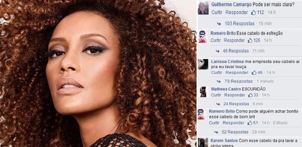 Taís Araújo foi alvo de comentários racistas na internet - Montagem