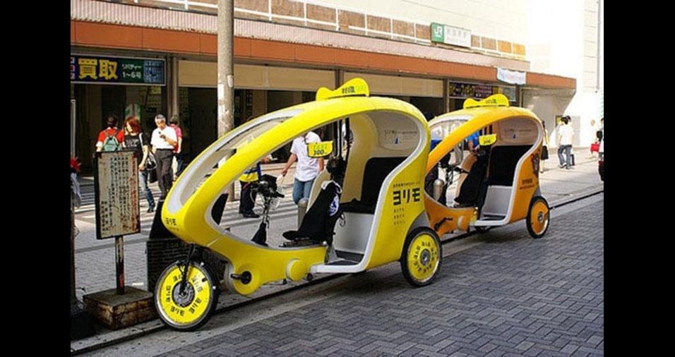 3. Táxis ecológicos de Tóquio, no Japão