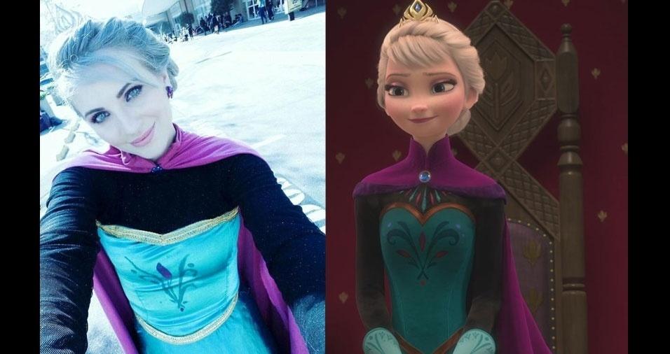 """Perla Guedes, de São Paulo (SP), é sósia da Elsa, do filme """"Frozen"""""""