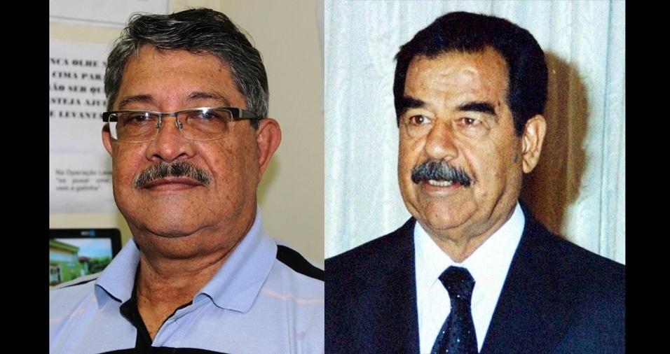 Brasilaves Borges da Silva, de Araporã (MG), se acha parecido com o ex-presidente do Iraque Saddam Hussein