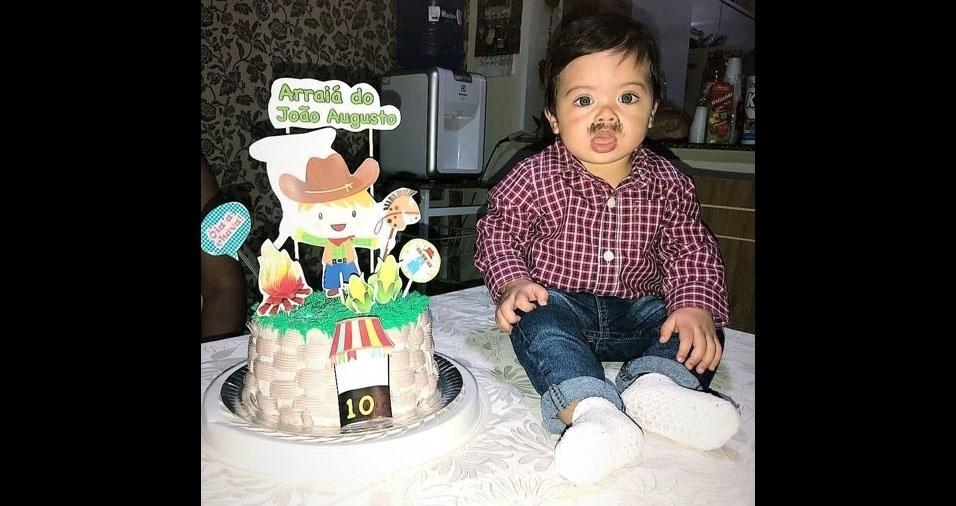 João Augusto, de dez meses, participa do especial com foto enviada pela mamãe Juliana Ricardo de Souza Rocha, de Cotia (SP)