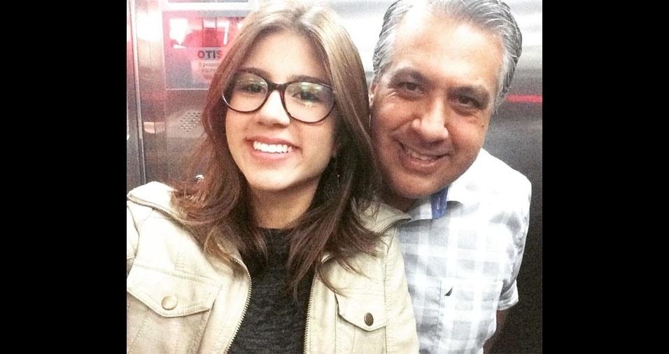 Marcelo Babora e sua filha Maria Luiza, de Londrina (PR)
