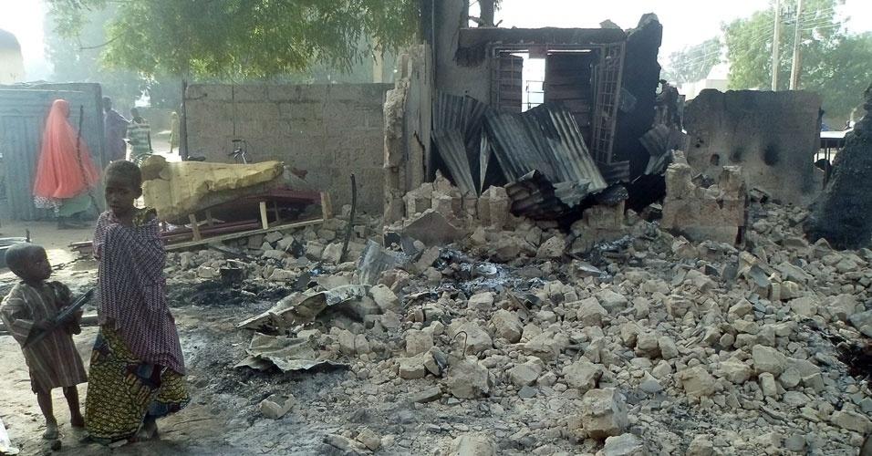 5. Maiduguri, Nigéria. Pelo menos 65 crianças foram queimadas vivas durante uma invasão a uma vila pelo grupo terrorista Boko Haram, em 31 de janeiro