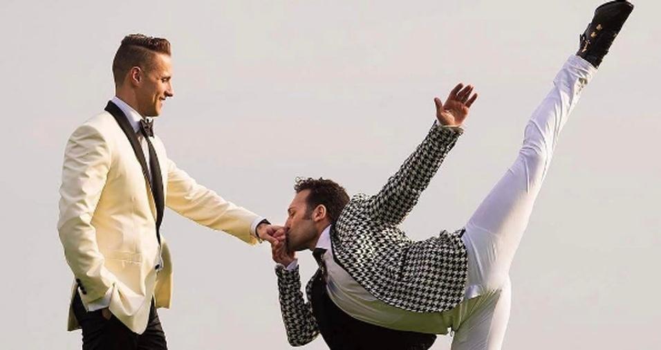 7. Jordan não fotografa mais casamentos, mas abriu uma exceção para a união de um dançarino e seu parceiro