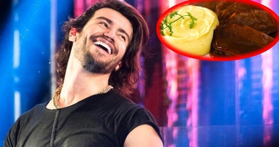 27. Mariano, da dupla com Munhoz - Língua com purê de batata, arroz e molho vermelho
