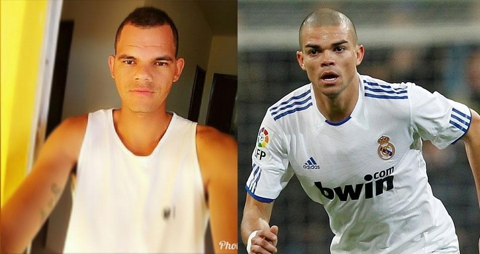 """Maicon Colares Lima, de Brejões (BA), conta:  """"Olá, eu sou um sósia do zagueiro Pepe"""""""