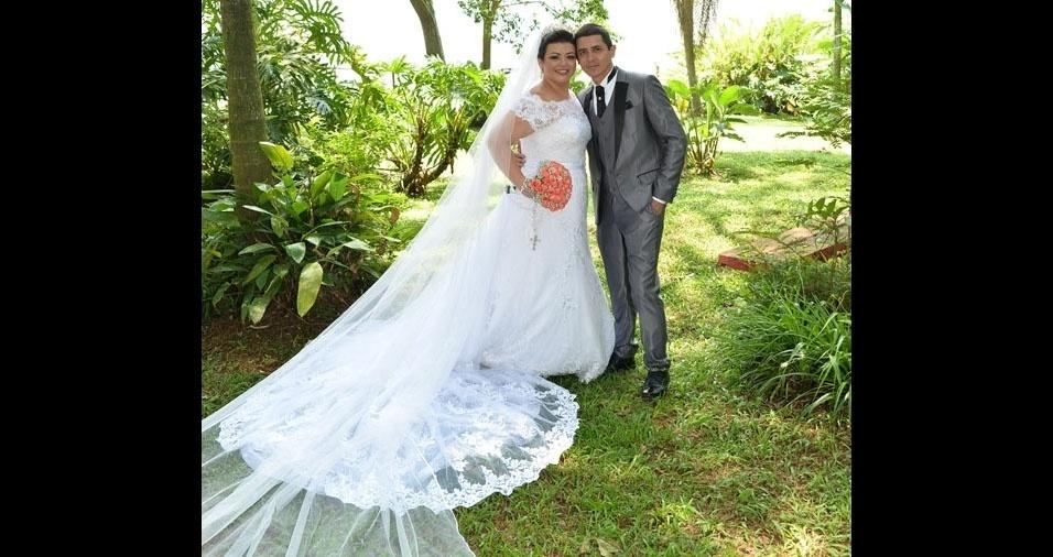 Nivaldo Alves e Elidiana Cavalcante se casaram no dia 9 de janeiro de 2017, em São Bernardo do Campo (SP)