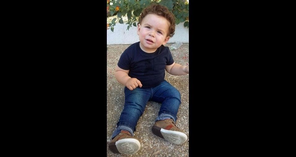 Douglas e Milena enviaram foto do filho Arthur