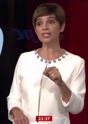 Renata Lo Prete, uma das âncoras políticas da Globonews, que disparou no ibope - Reprodução
