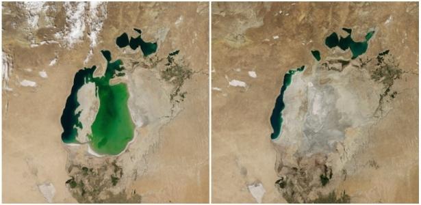 A Nasa (Agência Espacial Americana) divulgou imagens da evolução do aquecimento global
