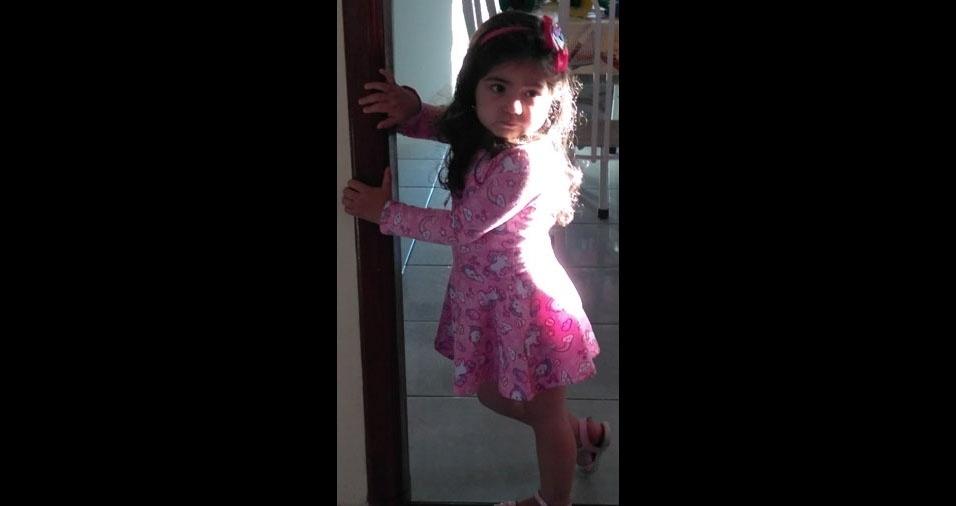 Elaine Alves é a mamãe da princesa Stefany Bianca, de três anos e 4 meses. Elas moram em Itamonte (MG)