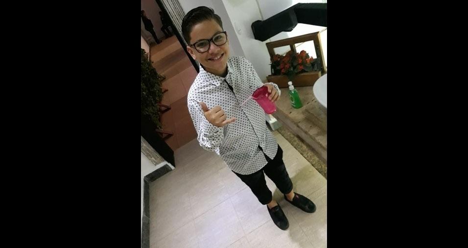Breno é o filho da Fabiana Ferreira Albernaz, de Brasília (DF)