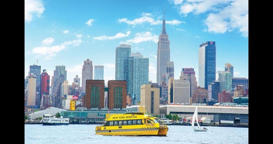 19. Em Nova York, EUA, tem táxi na água também