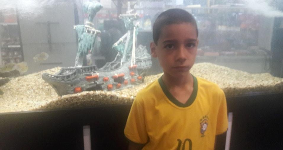 Francisca enviou foto do eterno amor, o filho Alex, de Brasília (DF)
