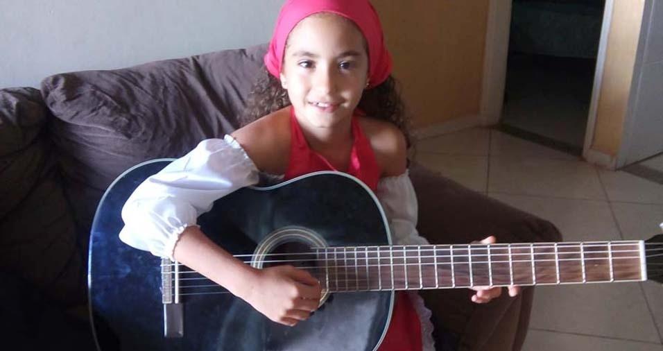 Patrícia e Wallace, de Planaltina (DF), enviaram foto da filha Manuela, de dez anos