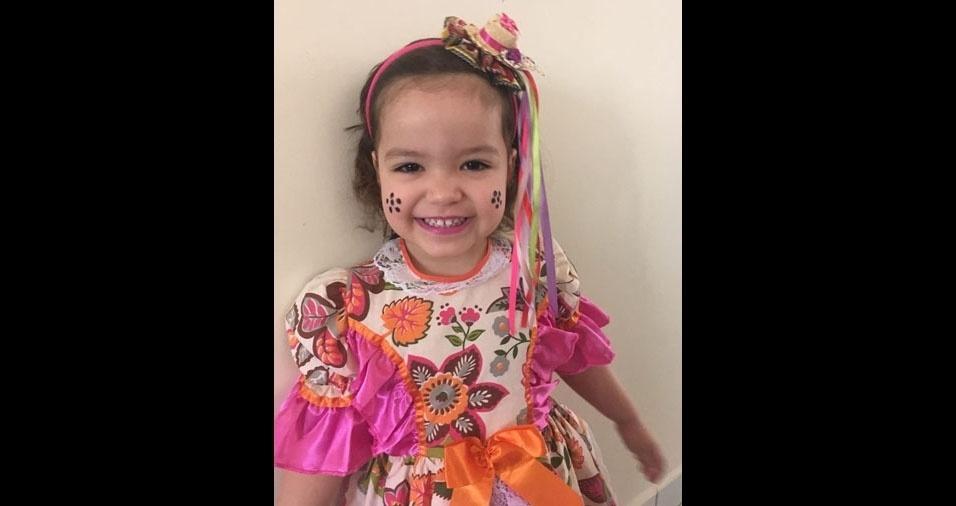 Gisele de Souza Santana é a mamãe da Paola, de três anos. Elas moram em Valinhos (SP)