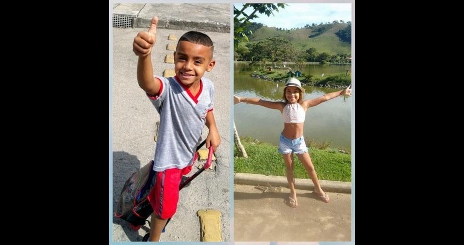 Bruna Silva de Souza Lopes enviou foto dos filhos João Victor e Júllia. Eles moram em Nova Iguaçu (RJ)