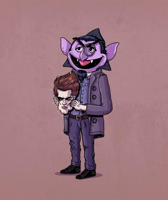 """21.out.2015 - Edward da saga """"Crepúsculo"""" também teve sua identidade revelada na série """"Icons Unmasked"""""""