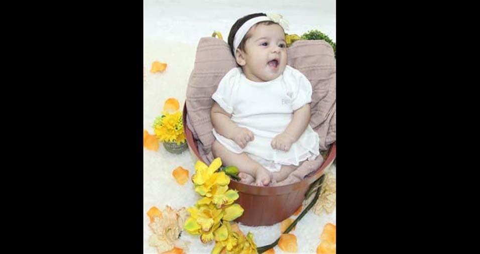 Laiza e Nildo enviaram foto da filha Valentina, de São Paulo (SP)