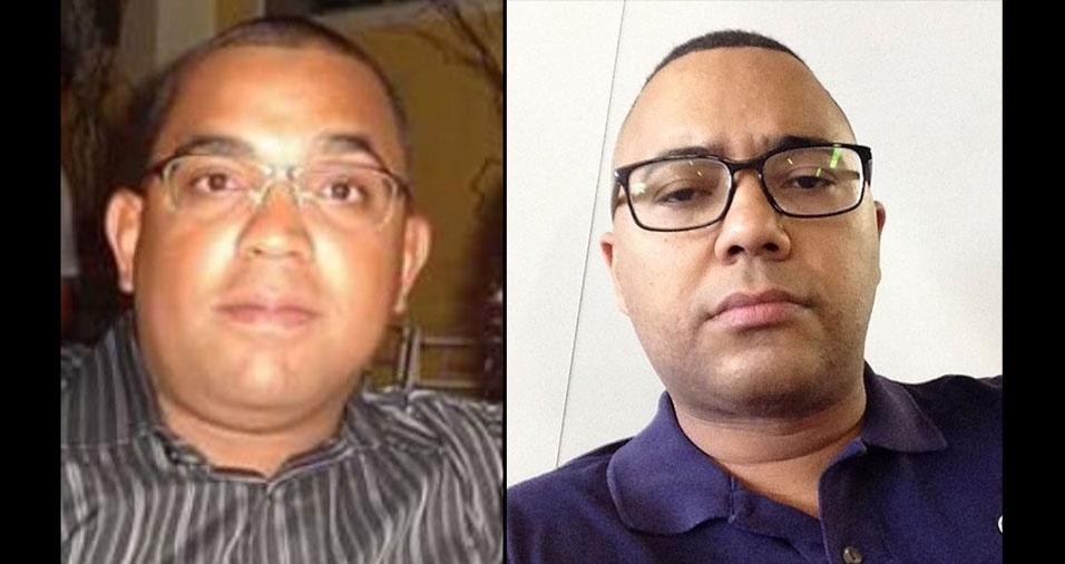 Anselmo Carvalho, de Campinas (SP), acredita que se parece com Dudu Nobre