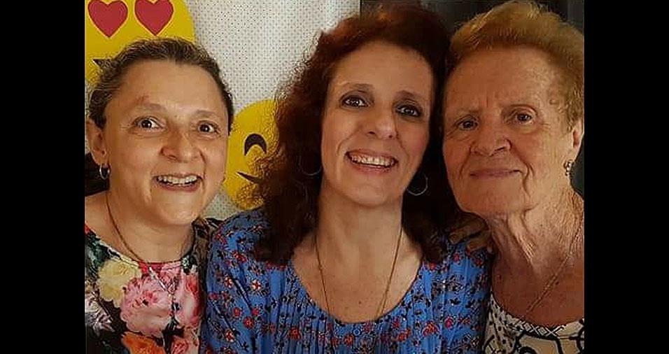 """As irmãs Filomena e Rosangela homenageiam a querida mãe Giuseppina: """"Amamos muito você, Mamma!"""""""
