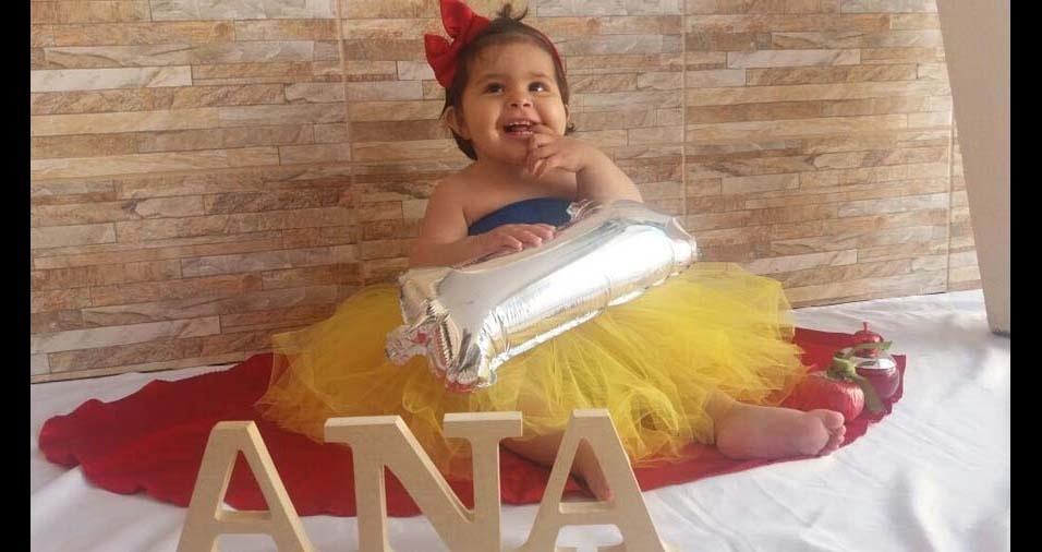 Rosiane e Alex enviaram a foto da filha Ana Clara, de São José dos Pinhais (PR)